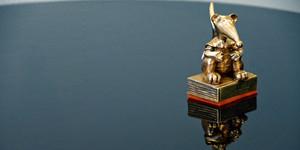 Statue Goldene Leslie